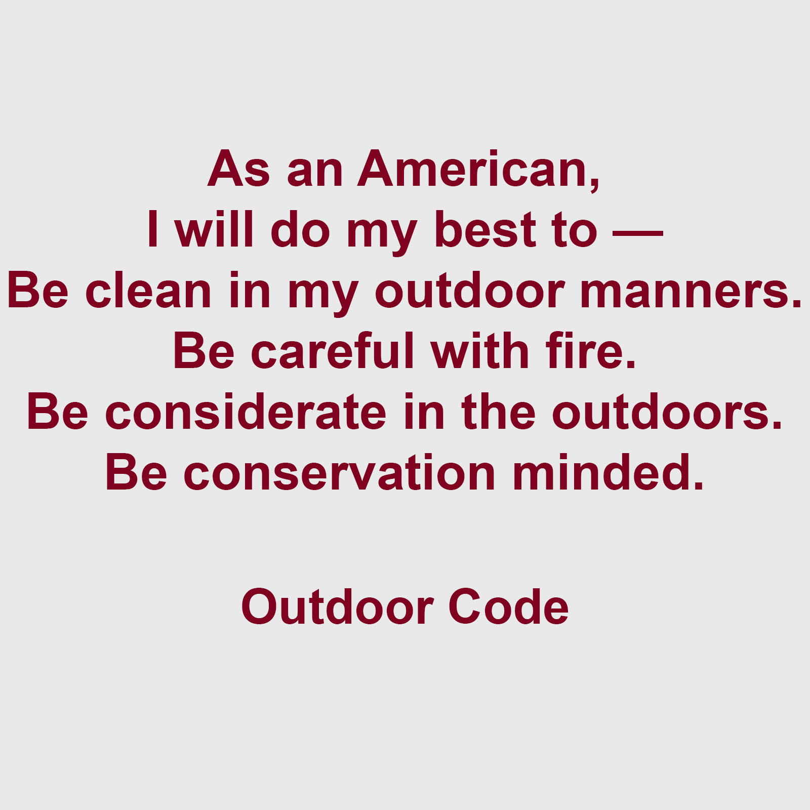 Crafty image with regard to outdoor code printable