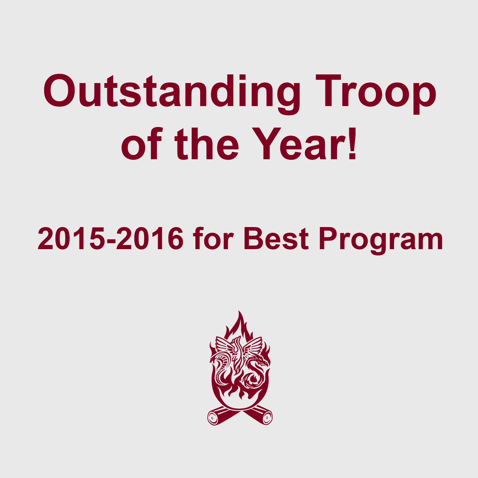 Outstanding Troop of the Year Troop 327